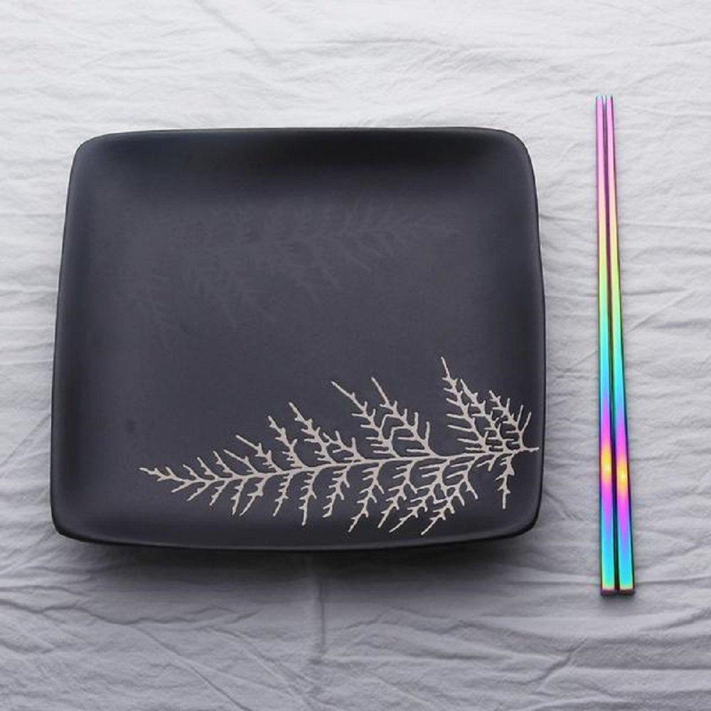 Paper /& Quartz Carta e quarzo olografiche iridescenti bacchette cucina arcobaleno utensili in acciaio inox