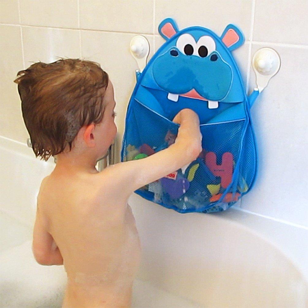 Blue Hurley Hippo Bath Toy Organizer