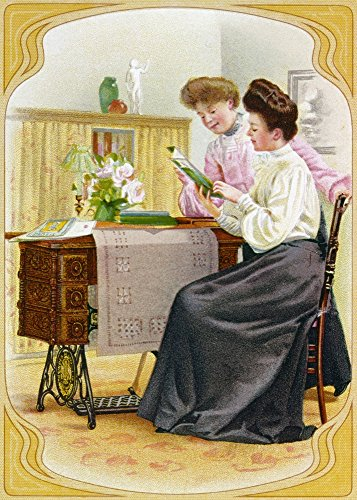 Ad Singer Sewing Machine Nadvertising Card For The Singer Cabinet Table Sewing Machine 1904 Poster Print by (24 x 36)