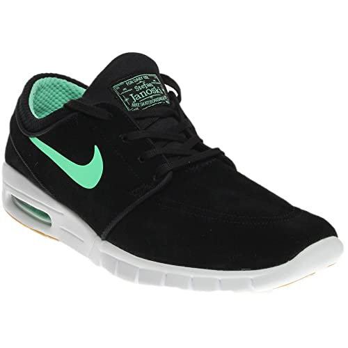 Nike Men's Stefan Janoski Max L, BlackGreen Glow White, 5 M US