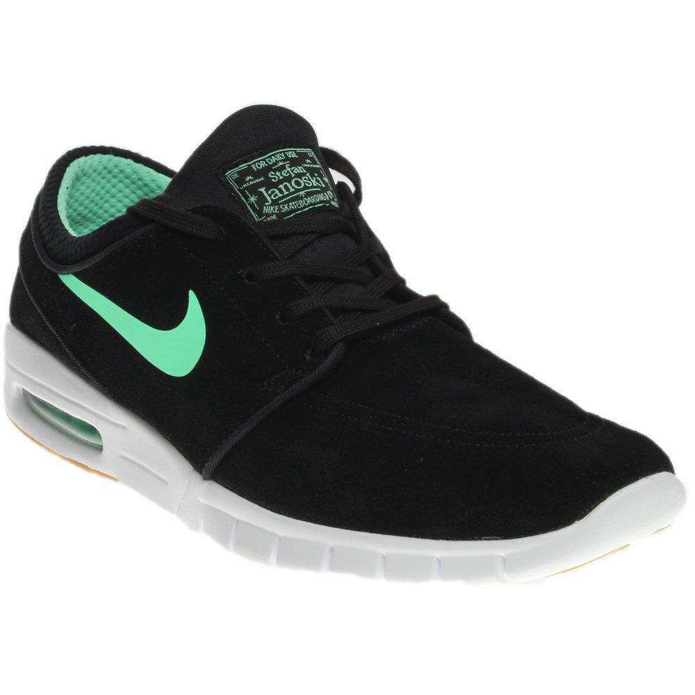 28110ff12d Nike Men's Stefan Janoski Max L, Black/Green Glow-White, 5 M US