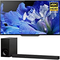 Sony BraviaXBR65A8F 65 4K HDR10 HLG Dolby Vision Triluminos OLED TV 3840x2160 & Sony HTZ9F 3.1Ch 4K HDR Compatible Dolby Atmos Soundbar with Built-in WiFi & Bluetooth