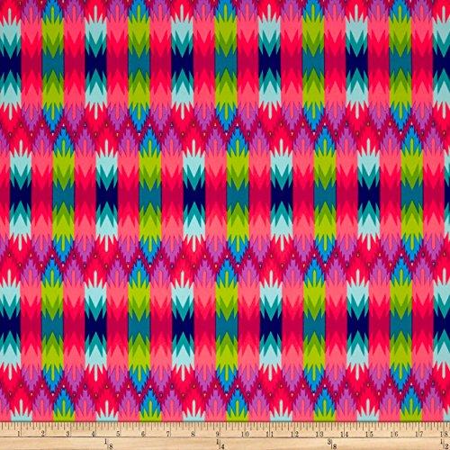 Fabric Merchants Swimwear Nylon Spandex Geo Rainbow Multi Fabric by the Yard