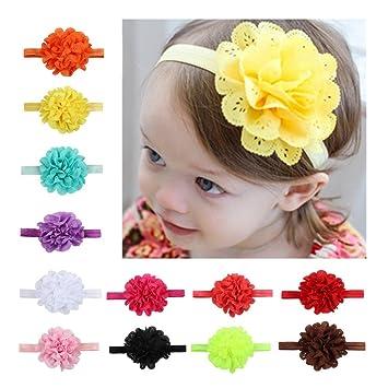Damen Baby Mädchen Schleife Blumen Muster Kopfband Elastisches Haarband Haar