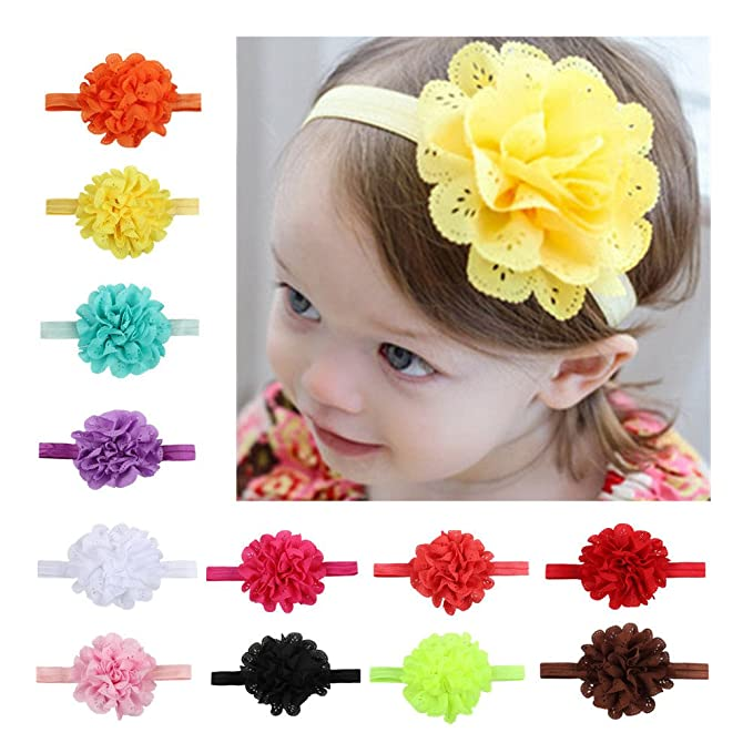 Amazon.com  Baby Girl Headband Newborn Girl s Hairbands Baby Head ... c002c613bcf
