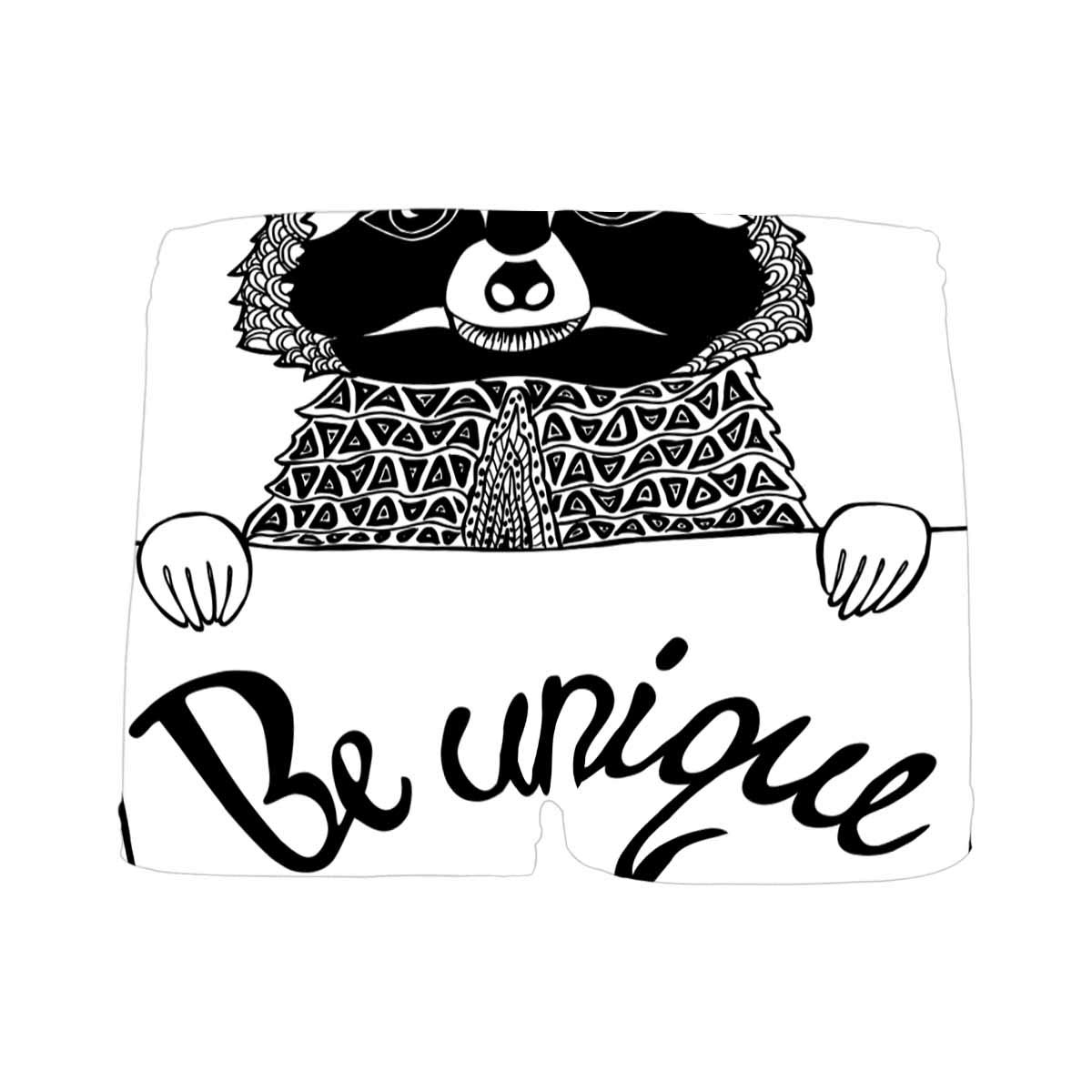 INTERESTPRINT Boys Be Unique Black and White All Over Print Boxer Briefs 5T-2XL