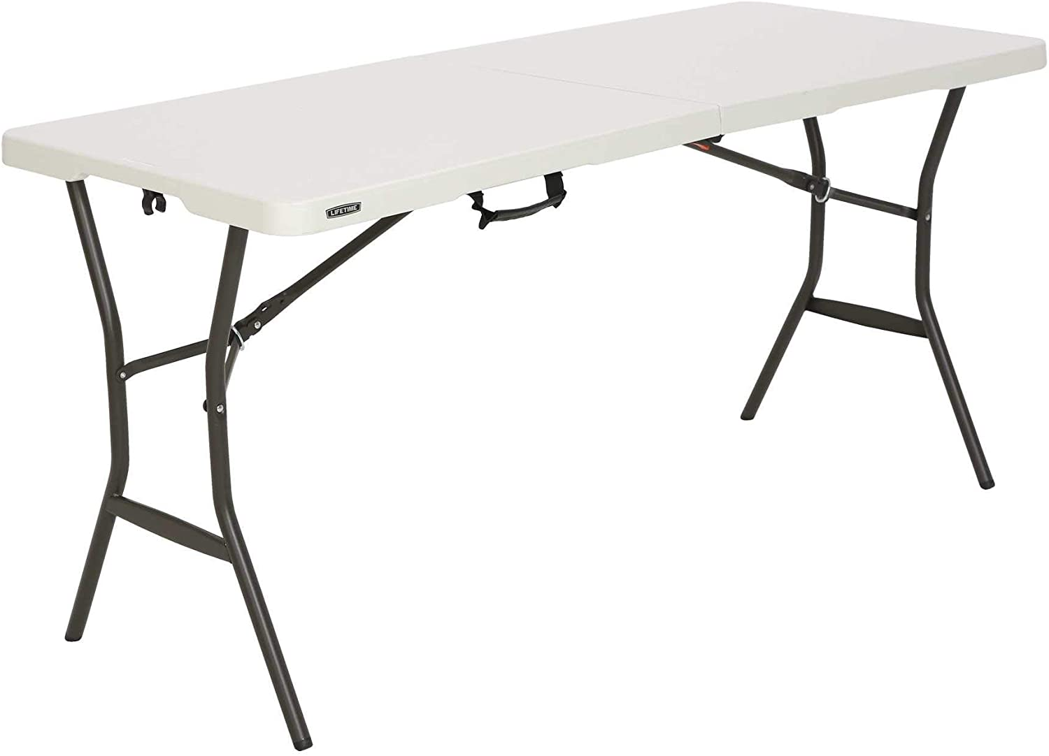 - Amazon.com: Lifetime 5' Essential Fold-in-Half Table: Kitchen & Dining