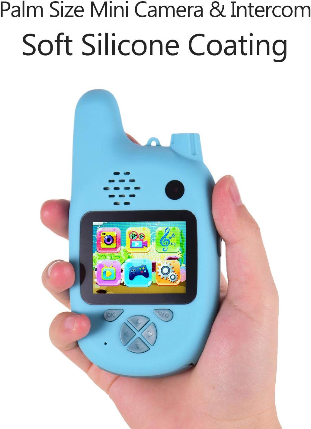 Baugger Fotocamera per Bambini Walkie Talkie 8MP Doppia Lente Schermo IPS da 2,0 Pollici Memoria estesa Batteria Integrata Musica e Giochi Timer Ripresa Messa a Fuoco Automatica