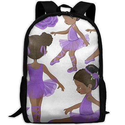 863d349f1c5e Amazon.com: Wialis8-id Ballerinas In Purple School Bookbags for ...