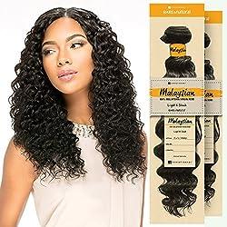 "Sensationnel Unprocessed Malaysian Virgin Remy Human Hair Weave Bare & Natural Euro Deep (12"", NATURAL BLACK)"