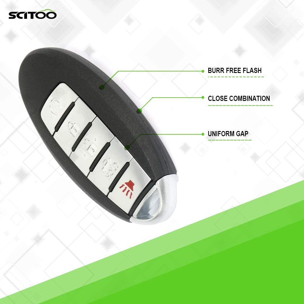 SCITOO Replacement fit for 1 X 5 Button Uncut Keyless Entry Option 13-15 Nissan Altima 2.5L 3.5L KR5S180144014