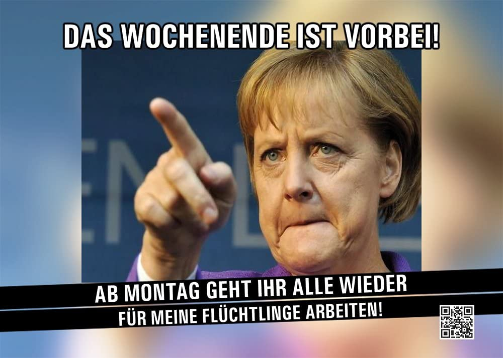 Aufkleber Sticker Merkel Das Wochenende Ist Vorbei Sticker Set 10 Stück Merkel Bundeskanzlerin Flüchtlinge Wochenende Refugees Auto