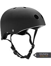 Kids/Adult Skateboard Helmet with Removable Liner for Scooter, Skateboarding, Roller Skate, Longboard, Inline Skating, Rollerblading, BMX, Bike, Cycling, Skiing Adjustable Straps Multi Color