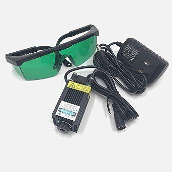 Amazon.com: Módulo láser 450 nm azul 1000 mW DC 12 V Dot 1 W ...