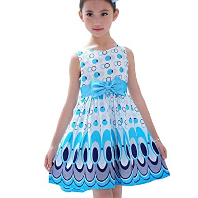 Kolylong® Kleid Mädchen (3-7 Jahre alt) Kolylong Mädchen Bogen Gurt ...