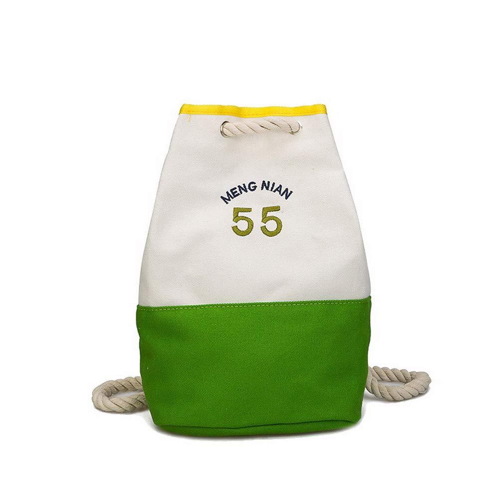 AllhqFashion Women's Shopping Canvas Dacron Two-Toned Casual Shoulder Bags,FBUBC222335,Green by AllhqFashion