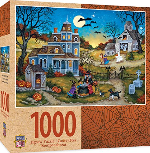 (MasterPieces Halloween Jigsaw Puzzle, Three Little Witches, Featuring Art by Bonnie White, 1000)
