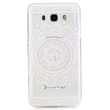 Funda para Samsung Galaxy J7 (2016), MHHQ Carcasa Transparente para Samsung Galaxy J7(2016) J710 Caso TPU gel de silicona goma suave Cubierta ...