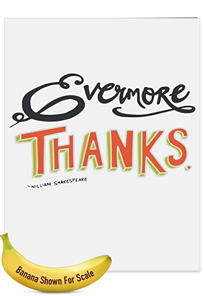 j9633bttg jumbo teacher thank you greeting card words of appreciation featuring artfully rendered words of