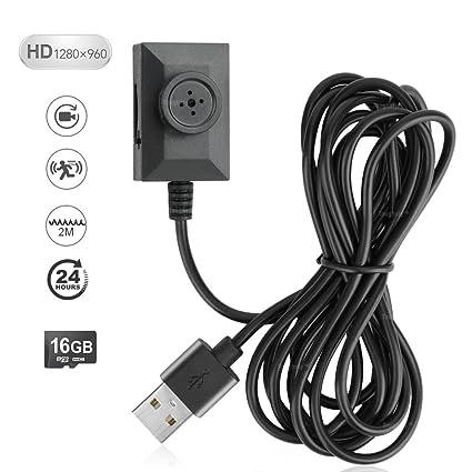 Toughsty 16GB Cámara de Botón Mini Espía Grabadora de DV con Grabación de Vídeo