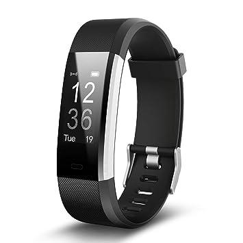 YSCYLY Fitness Tracker Reloj Inteligente con Monitor de frecuencia cardíaca IP67 Podómetro Impermeable para Dormir Notificación por SMS para niños, ...