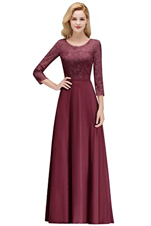 aef7eebb222e0 MisShow Elegant Black Tie Dress for Women Long Sleeve Evening Gowns for  Formal Night Out,