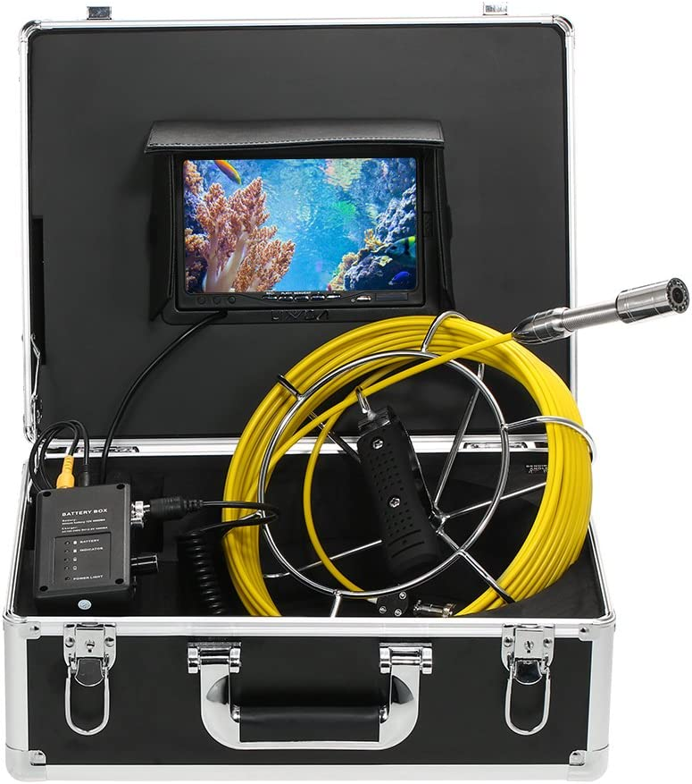 vidaXL Pipe Inspection Camera 98.4 with DVR Control Box Color LCD Monitor