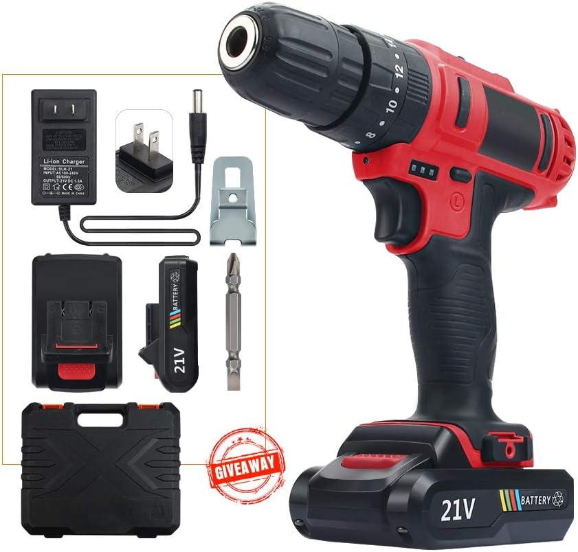 21V MAX Power Cordless Drill Driver Kit