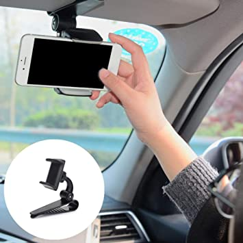 Soporte Universal para el teléfono montado en el Coche con Clip de Hebilla 360 Giratorio para