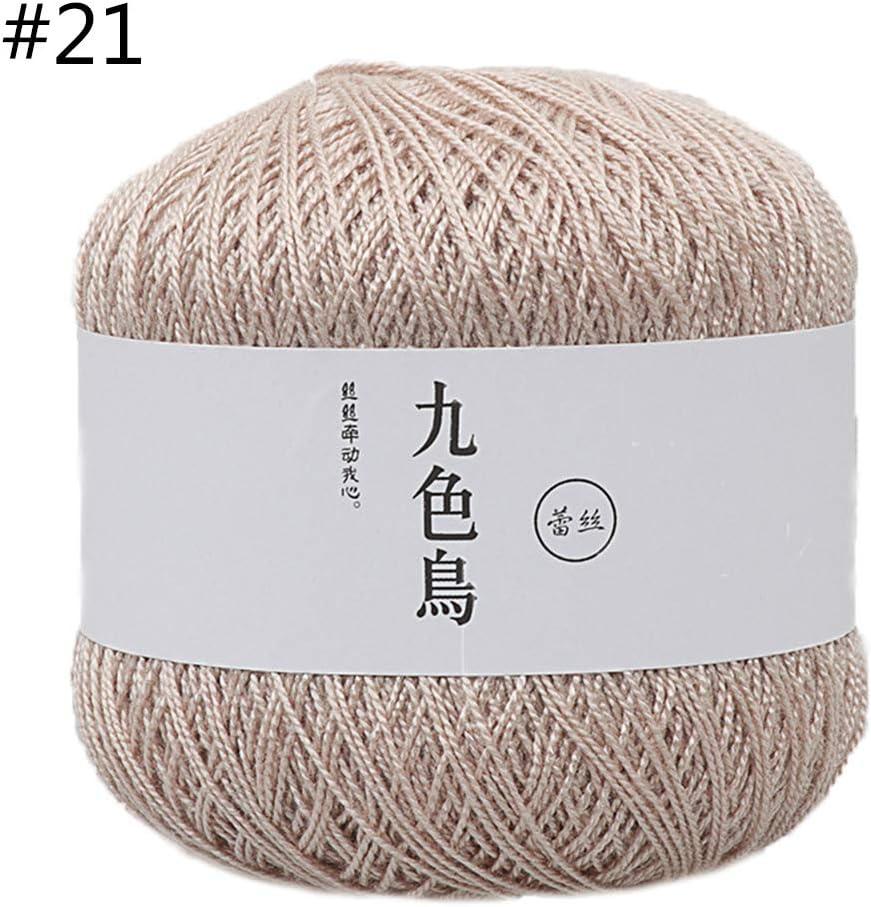 Qiman – 50 g, 1 pieza, hilo de algodón de seda para ganchillo, para bebé, tejido a mano, hilo suave y cálido para tejer accesorios 21