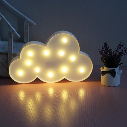XIYUNTE Cloud Shape Night Lights - LED Cloud Wall Lamps Children\'s ...