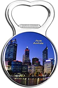 Weekino Australia Perth Fridge Magnet Bottle Opener Beer City Travel Souvenir Collection Strong Refrigerator Sticker