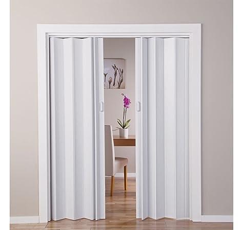 With Oak - Puerta doble efecto plegable, color blanco (770045422): Amazon.es: Jardín