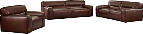 Sunset Trading Milan Sectional, Brown