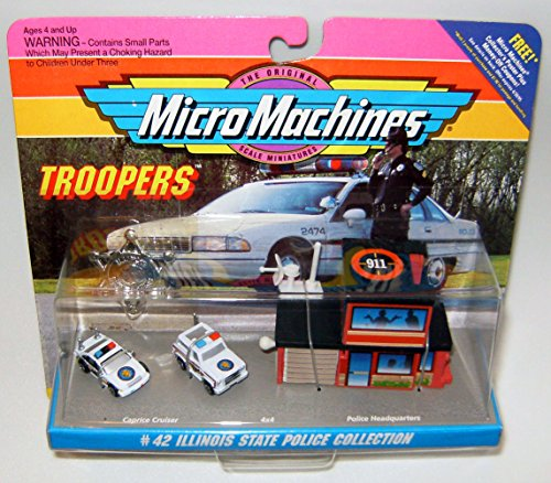 Car Caprice Police - Illinois State Police Micro Machines Troopers Set #42