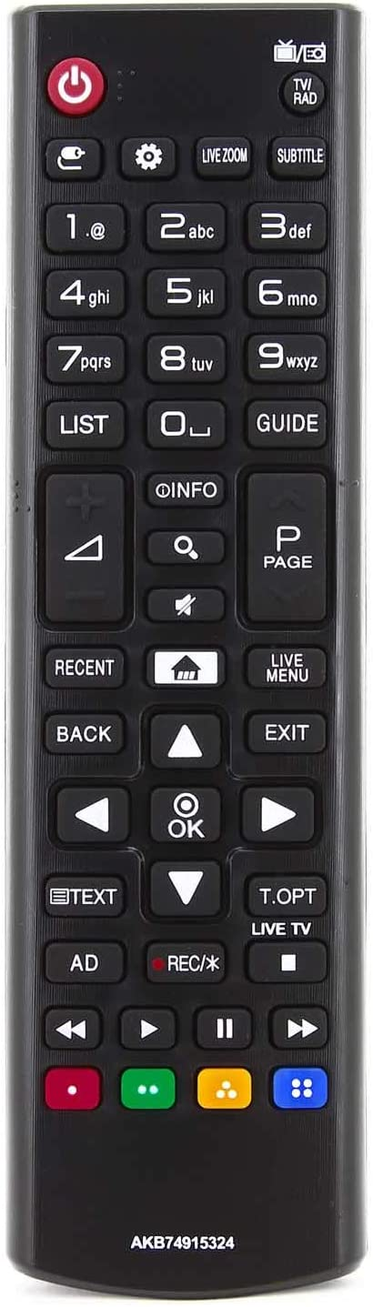 121AV - Reemplazo del Control Remoto AKB74915324 para televisores ...