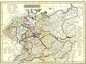 germany switzerland holland belgium arrowsmith 1832 old map antique map