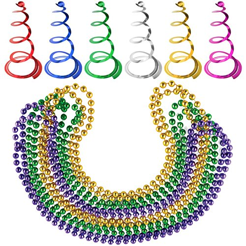 Yellow Mardis Gras Beads - 9