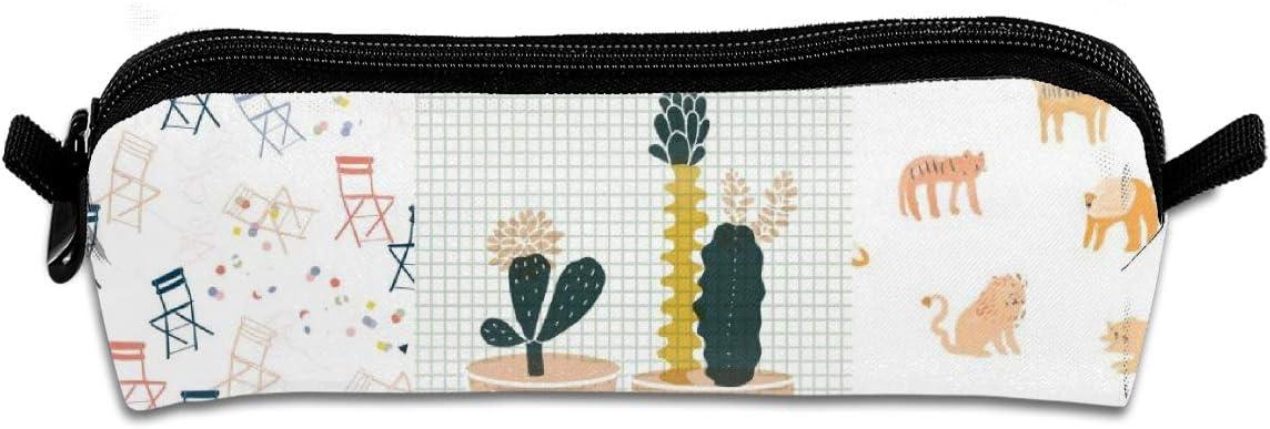 Pengyong Tiger - Estuche con Cremallera para lápices y bolígrafos, diseño de Cactus, para niños y Adolescentes: Amazon.es: Hogar