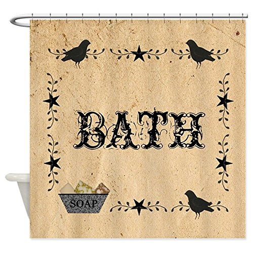 Used, CafePress Primitive Bath Decorative Fabric Shower Curtain for sale  Delivered anywhere in USA