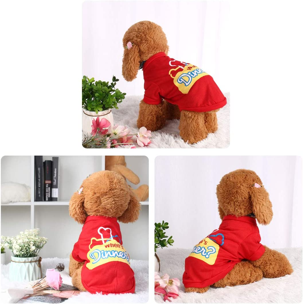 sourcing map Dog T Shirts Cotton Costume Cat Pet Sweatshirt Tops Clothing Vest Puppy Spring//Summer//Fall Cool Clothes Apparel Outfits 26 M