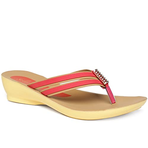 01bd05254 PARAGON SOLEA Women s Red Flip-Flops  Buy Online at Low Prices in India -  Amazon.in