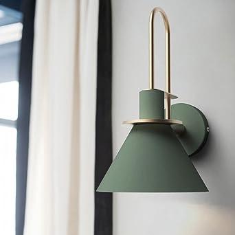 Loft estilo escalera de hierro forjado apliques Vintage aplique de pared de la lámpara con E27 Edison bombillas de interior accesorios de iluminación para el hogar XYJGWBD (Color : Green): Amazon.es: Iluminación