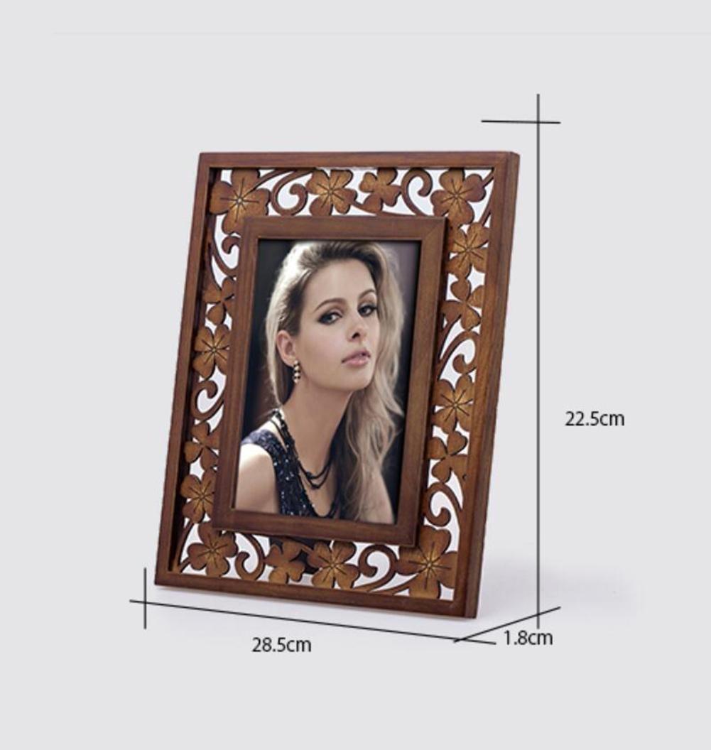 HYT Weinlese hölzerner Bild Foto Rahmen für Familie Ihn ihr Geschenk ...