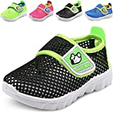 DADAWEN Baby's Boy's Girl's Breathable Mesh Running Sneakers Sandals Water Shoe Black US Size 5 M Toddler