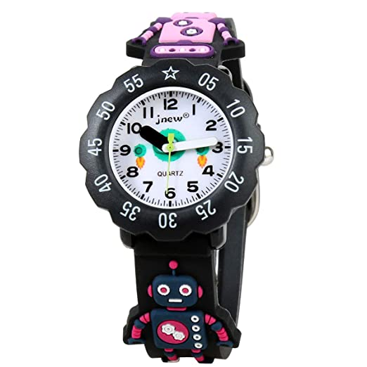 LUCHA - Reloj Digital de Pulsera para niños, diseño de Dibujos Animados en 3D, de Silicona, niñas de 3 a 10 años: Amazon.es: Relojes