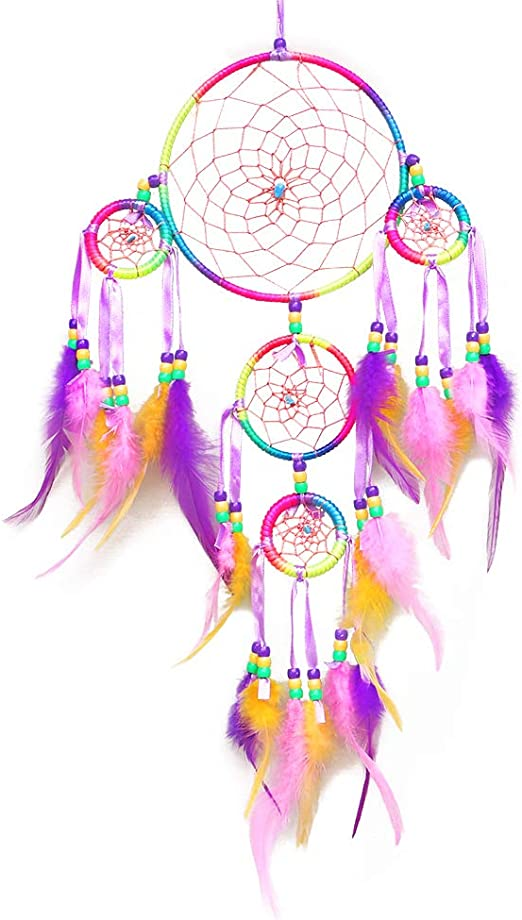 18 /'/' Handmade Dream Catcher Feathers Wall Car Hanging Ornament Craft Gift