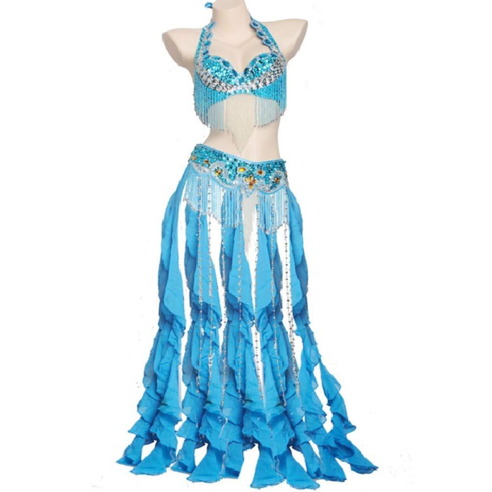 Wangmei Bauchtanz Outfit für Damen Damen Damen Professionelle Leistung Oberer BH-Gürtel 2 Stück Bauch-Tanzkleidung Fringe Pendel B07GH1SGDP Bekleidung Online-Verkauf b5a34e