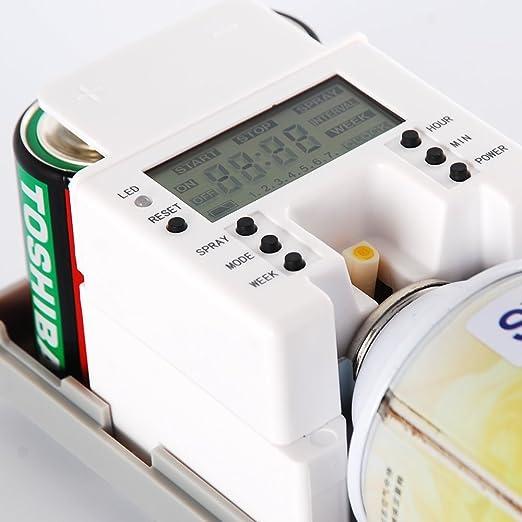 LCD automático aerosol de perfume dispensador montado en pared hogar fragancia: Amazon.es: Hogar