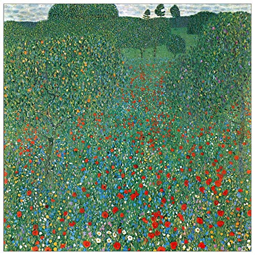 (ArtPlaza TW90404 Klimt Gustav - Poppy Field Decorative Panel 31.5x31.5 Inch Multicolored)
